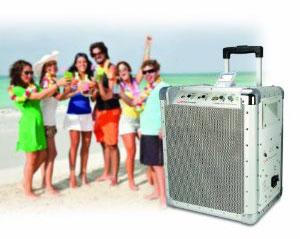 ION Block Rocker Battery Powered Speaker System for iPod