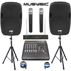 MUSYSIC Complete Professional 2000 Watts PA System