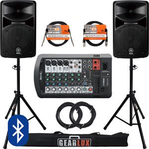 Yamaha STAGEPAS 400BT Portable PA System Bundle